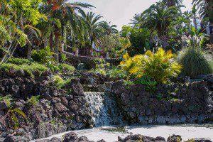 Der Wasserfall im Taoro Park ist eine der Sehenswürdigkeiten in Puerto.