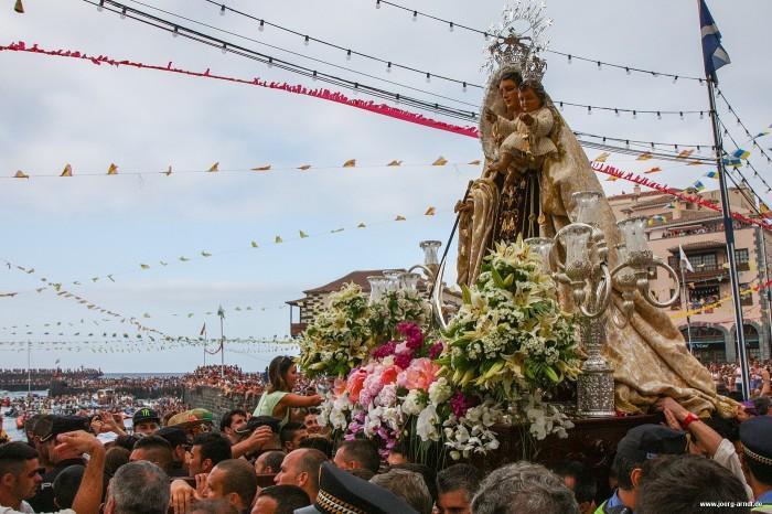 Fiesta del Carmen in Puerto de la Cruz: Gänsehaut am Hafen