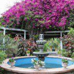 Idylle pur: Ein kleiner Springbrunnen im Sitio Litre.