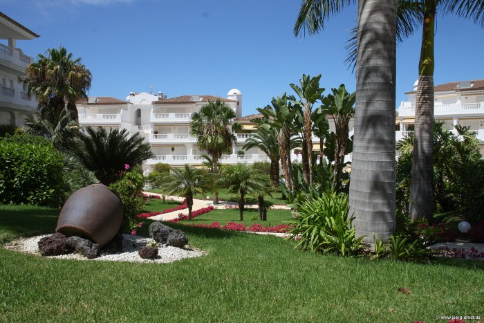 Die Wohnanlage Strelizia Parque in La Paz.